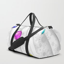 Christmas balls with background Duffle Bag