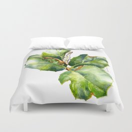 California Oak Moth Caterpillar Duvet Cover