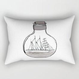 The Ship in the Bulb Rectangular Pillow