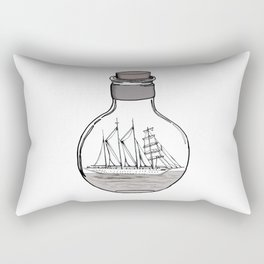 The Ship in the Bulb Rectangular Pillow