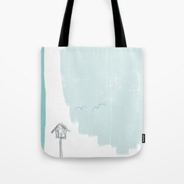birds coming home Tote Bag