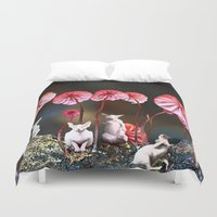 naked Duvet Covers featuring naked by madild