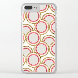 Petite Glitter circles collection Clear iPhone Case