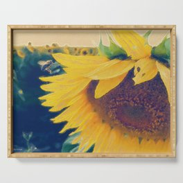 sunflower and little bee Serving Tray