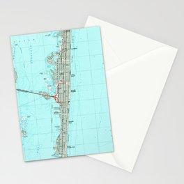 Seaside Park & NJ Shore Map (1989) Stationery Cards