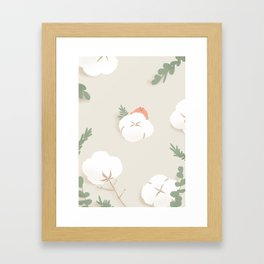 frog with cotton Framed Art Print