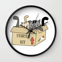 Crazy Cat Lady Starter Kit Wall Clock