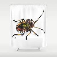 bug Shower Curtains featuring Bug by MSRomeiro