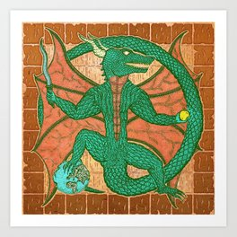dromóroh, cave Art Print