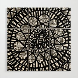 Black and White Doodle 7 Wood Wall Art