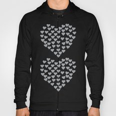 Hearts Heart x2 Grey Hoody