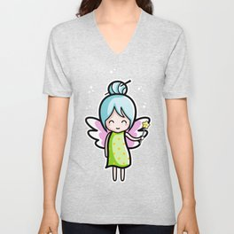 Kawaii Cute Fairy Unisex V-Neck