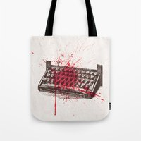 movie poster Tote Bags featuring Misery - minimal movie poster by Stefanoreves
