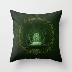 Lord Of The Ring - Durin Gate Throw Pillow