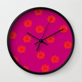 Some Crazy Happy Flowers Patternish Wall Clock