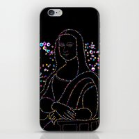 mona lisa iPhone & iPod Skins featuring Mona Lisa by Ornaart