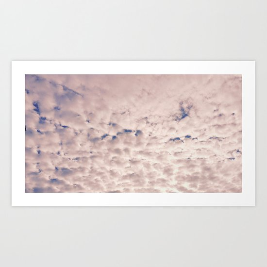 Pink Cotton Candy Clouds Art Print