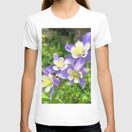 Watercolor Flower, Columbine 05, Fall River Road, RMNP, Colorado T-shirt
