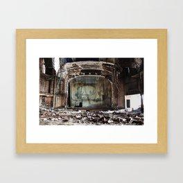 The Desolate Theater Framed Art Print
