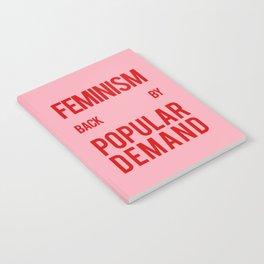 FEMINISM: BACK BY POPULAR DEMAND Notebook
