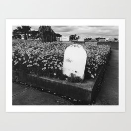 Cemetery in Bloom Art Print