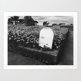 Cemetery in Bloom Art Print