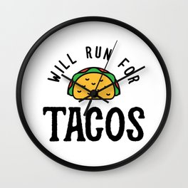 Will Run For Tacos v2 Wall Clock