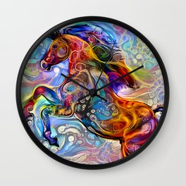 Polychrome Pony Wall Clock