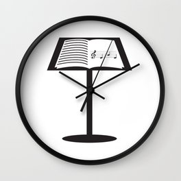 Nice Music Tee For Musicians Opera T-shirt Design Heart Notes Opera Musical Choir Clef Stand Wall Clock