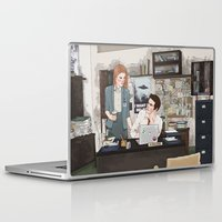 lydia martin Laptop & iPad Skins featuring Teen Wolf X-Files AU (Stiles Stilinski & Lydia Martin) by vulcains