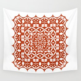 Mandala Red Square Wall Tapestry