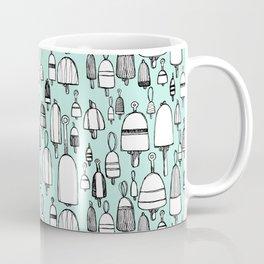 Buoyant Designs in Green Coffee Mug