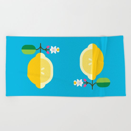 Fruit: Lemon Beach Towel