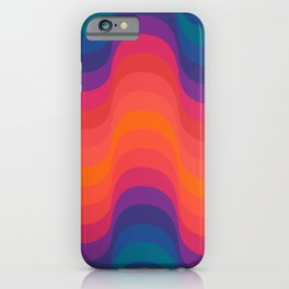 Retro Sacred Geometry | 80s Wavy Vibe iPhone Case