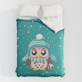 Cute Owl Make In Holiday Comforters