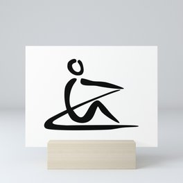 Rowing Logo 1 Mini Art Print