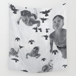 Murmuration - collage  Wall Tapestry