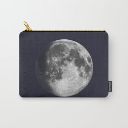 Waxing Gibbous Moon on Navy Carry-All Pouch