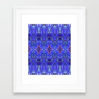 agnes Framed Art Prints featuring Agnes Cobalt by Amy Sia
