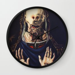 Pale Man With Crown Wall Clock