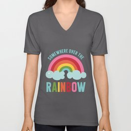 Somewhere Over the Rainbow Unisex V-Neck