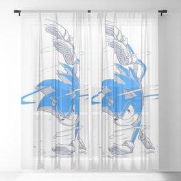 Blue Sonic  Sheer Curtain