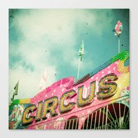 circus Canvas Prints featuring Circus by Cassia Beck