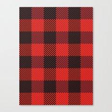 Pixel Plaid - Lumberjack Canvas Print