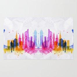 Color New York Skyline 03 Rug