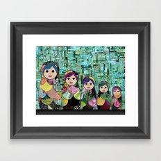 Matryoshka Nesting Dolls Framed Art Print