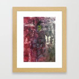 Tribal Download. Oil on Collagraph Print by Jain McKay. Framed Art Print