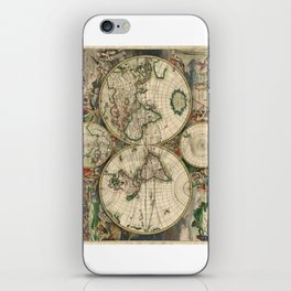1689 Map of the World by Gerard van Schagen iPhone Skin