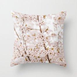 Honey bee blossom Throw Pillow
