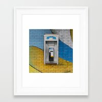 telephone Framed Art Prints featuring Telephone by RMK Photography